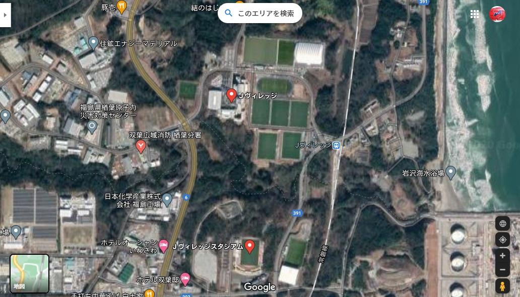 test ツイッターメディア - 何気にGoogleマップ(航空写真)を見てたらJヴィレッジが作業拠点だったころのではなく、現状の芝生のJヴィレッジになってる(1枚目) Yahooマップ(2枚目)も現状のJヴィレッジ  ただいわきFCパークはGoogleマップでは出来る前のまま(3枚目)だけど、Yahooマップでは現状(4枚目) いつ変わるのかな? https://t.co/HTljeiZI4K