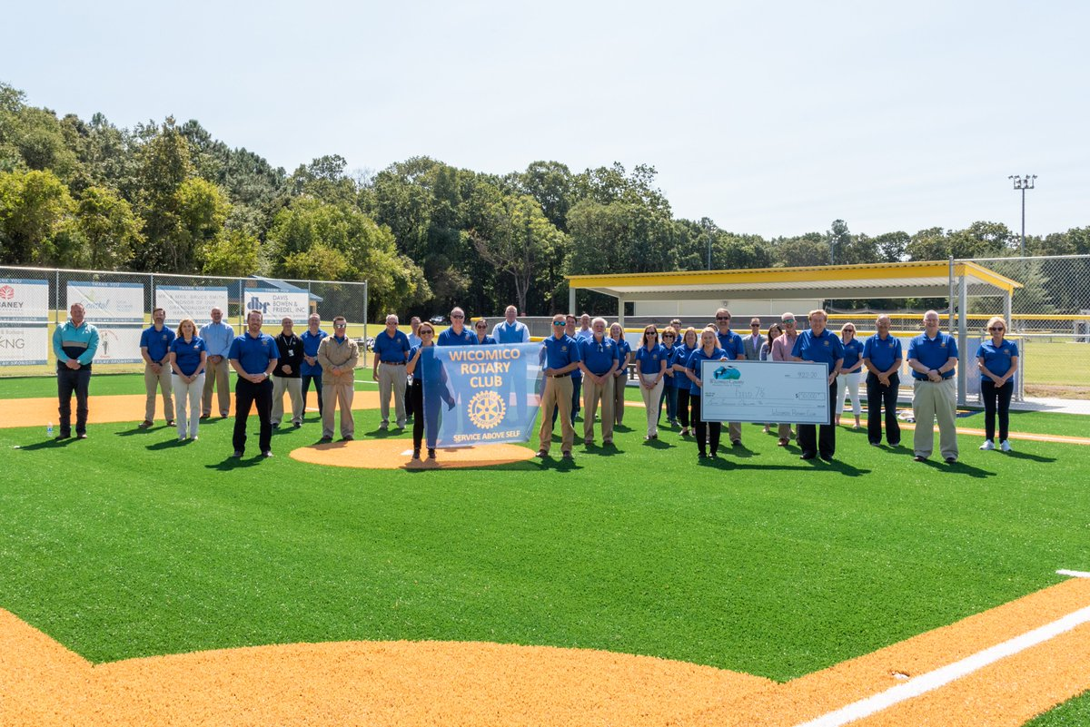 A huge THANK YOU to the Rotary Club of Wicomico County for its commitment of $50,000 to Field 7 ½! ⚾️  The club was recognized during a presentation at the Henry S. Parker Athletic Complex on Tuesday, Sept. 22.  Read more: