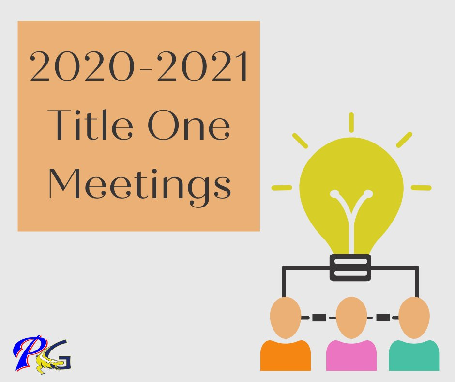 Our Title I schools hold an annual Title I meeting for parents to review what the Title program is, to discuss the school wide plan, & request feedback. Take a moment to go to your child's school's Facebook page or website to view the Title I meeting video & provide feedback.