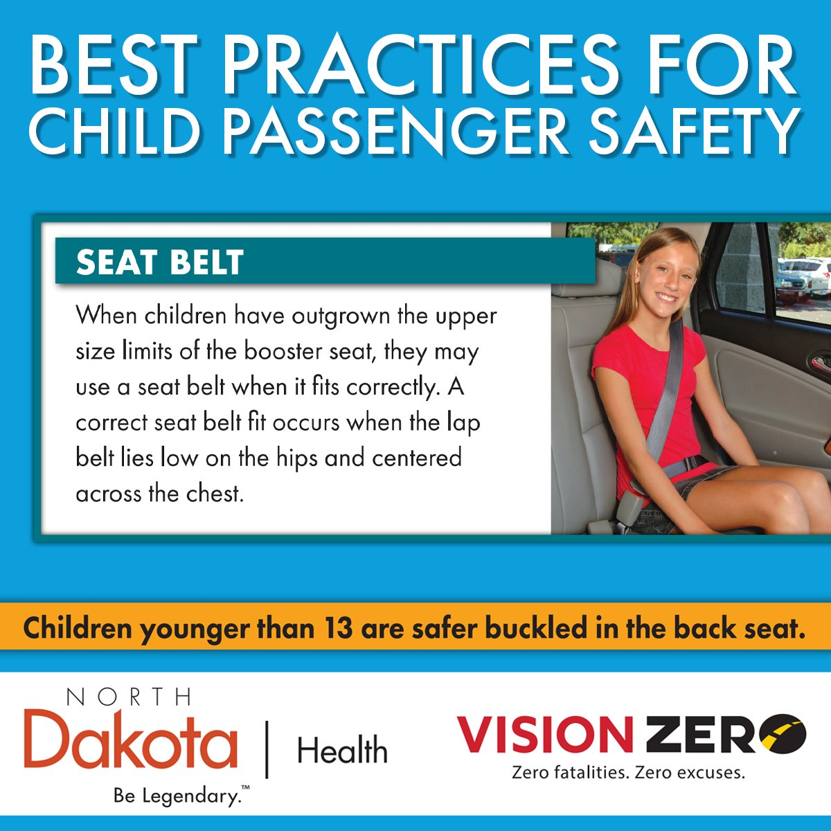 The right car seat is important for your child! Is your child ready to graduate from a booster seat to only needing a seat belt? #ChildPassengerSafetyWeek  Find out here: