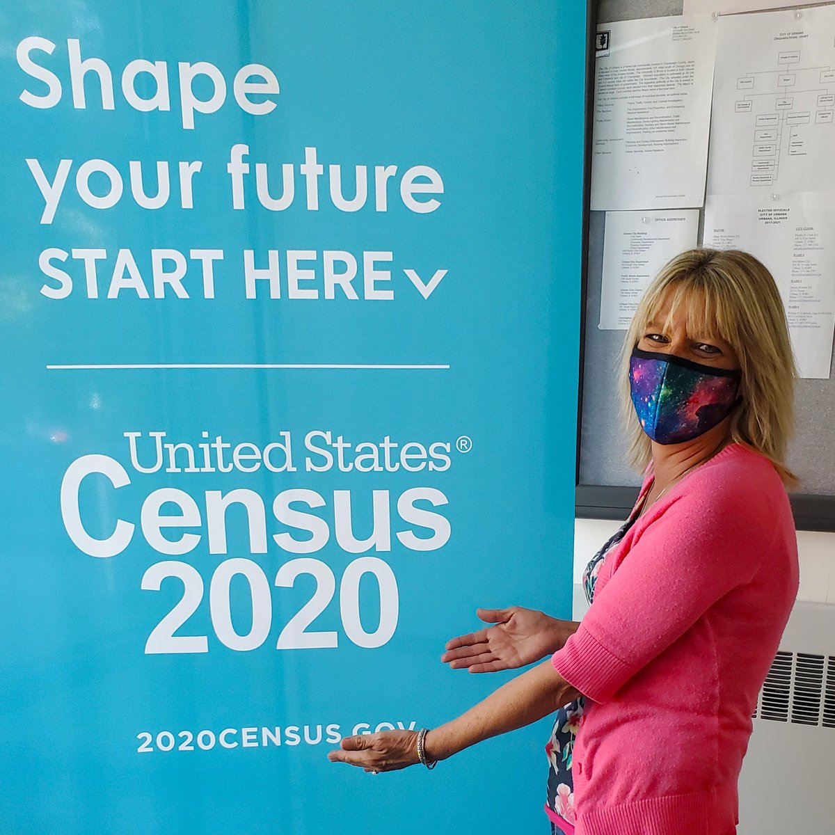 IT'S UP TO YOU!! Be like Becki and take the Census! Did you know Illinois is one of the few states that has more money going to the Federal Government than it has coming back to us? Go to:  #UrbanaCounts #ChampaignCountyCounts