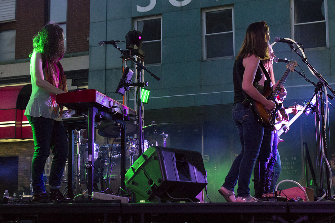 #RememberWhen the Amelia Airharts rocked the streets of Bowling Green during @fireflynightsbg in 2018? Catch them at Arlyn's Good Beer on September 26, 2020. Their set starts at 7p, but you'll want to get there early to secure your spot and get a cold one from Arlyn's! #ThinkBGOH