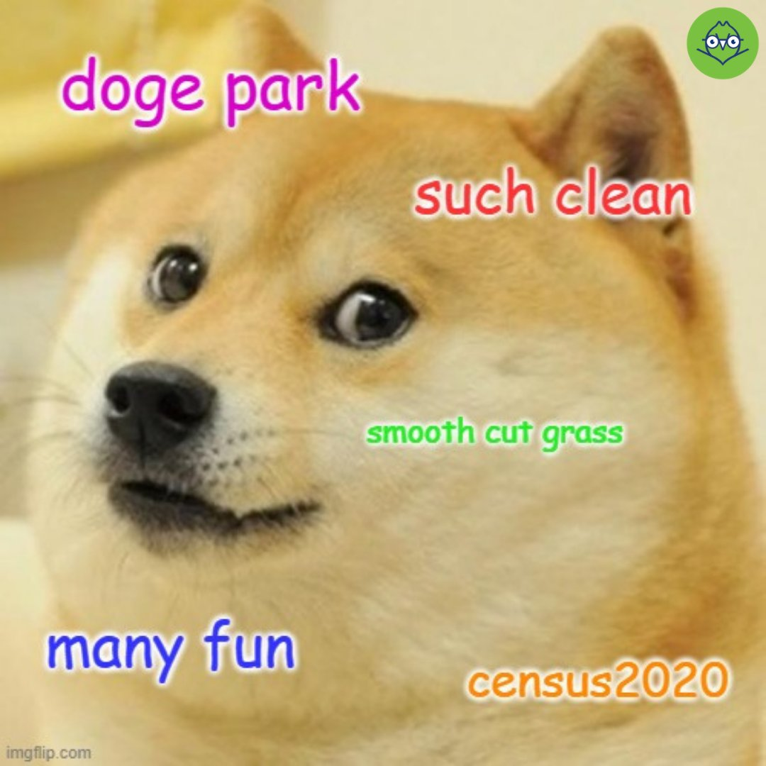 There are only 6 days left to complete the #2020Census. Which means there are only 6 days left to complete your census and ensure we get our federal tax $ back to have the best public parks possible for all of our humans AND their dog friends!  Go: