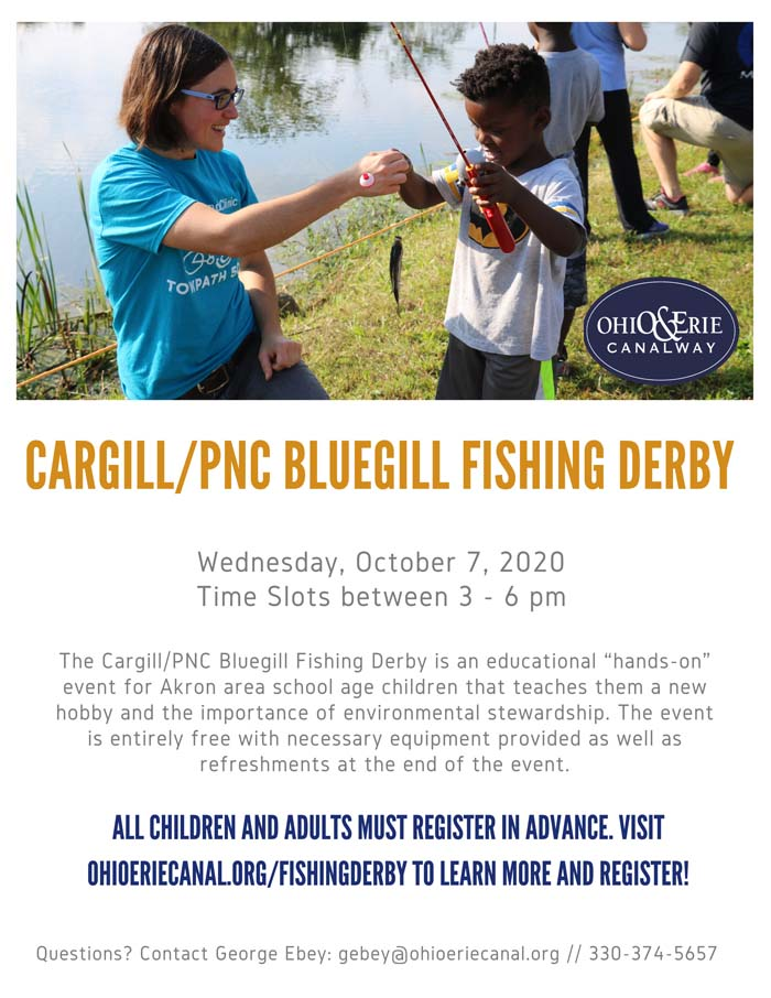 Learn to fish, kids!  @akronschools encourages students to sign up for the @Cargill @PNCBank Bluegill Fishing Derby!  It's Oct. 7.  We still have room.  #akronschools @APSathletics1