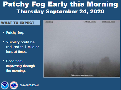 Patchy fog this morning across parts of the Panhandle. #akwx