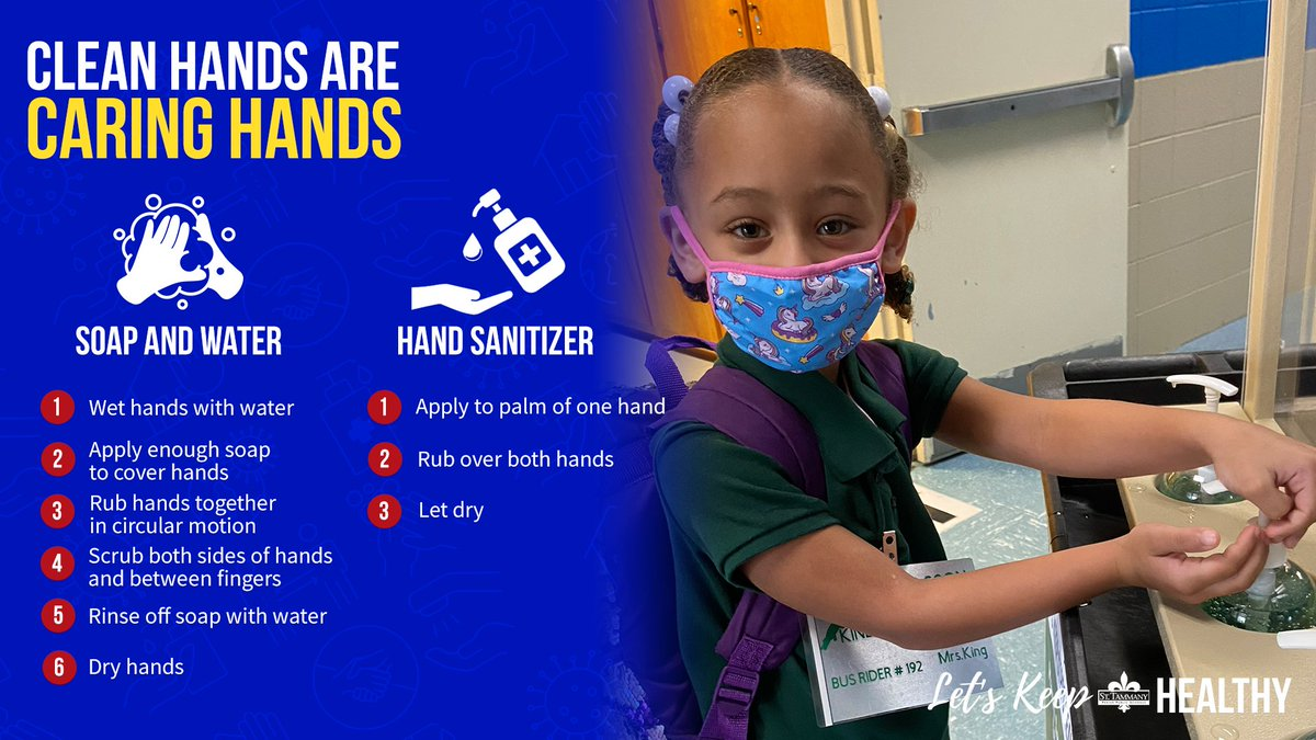 When our students arrive on our campuses, they wash or sanitize their hands before entering the building.  Clean hands are caring hands!  #KeepSTPPSHealthy #WeAreSTPPS