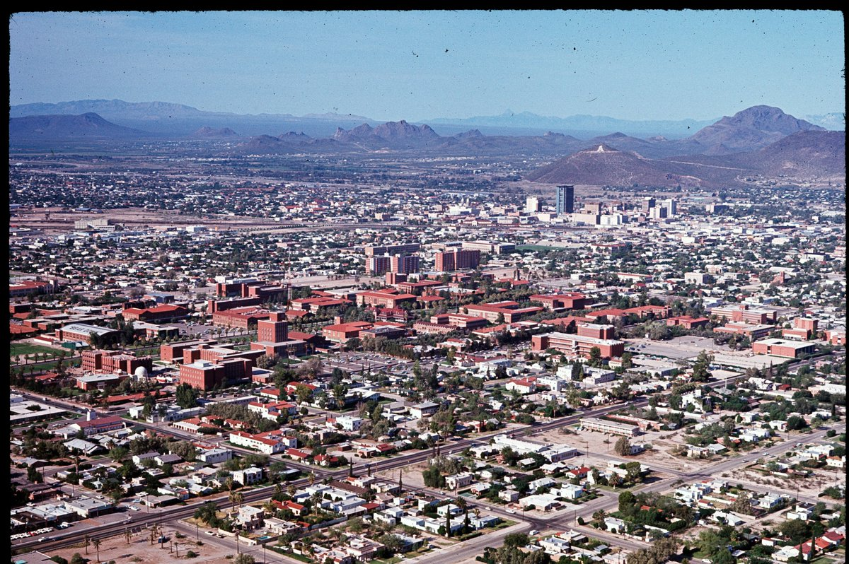 Nice find. We'll trade you this photo, dated August 1967, looking over the University of Arizona and downtown to