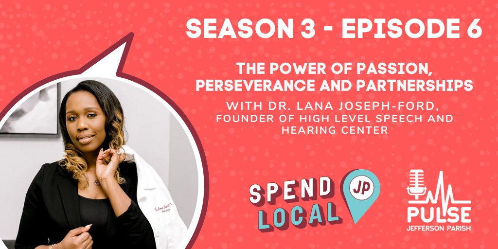 How do you build a booming medical business and become an entrepreneurial leader in the healthcare industry?  @DRJ_hearingdoc, owner of #HighLevelHearing, shares her recipe for success on the #JeffersonParishPulse podcast this week.   LISTEN HERE: