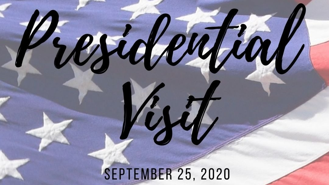 Tomorrow, September 25, President Donald J. Trump has scheduled a visit to the Newport News/Williamsburg International Airport.