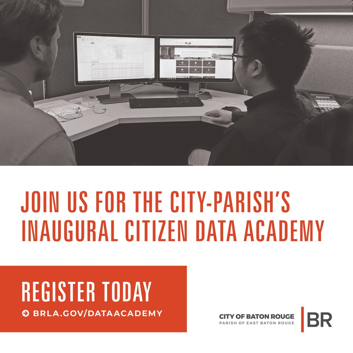Our inaugural Citizen Data Academy begins Oct. 13 and you won't want to miss it! Learn how to unlock the power of our City-Parish #data – where it's located, what it includes, & how to use #opendata and #GIS to improve quality of life in EBR. Register now: