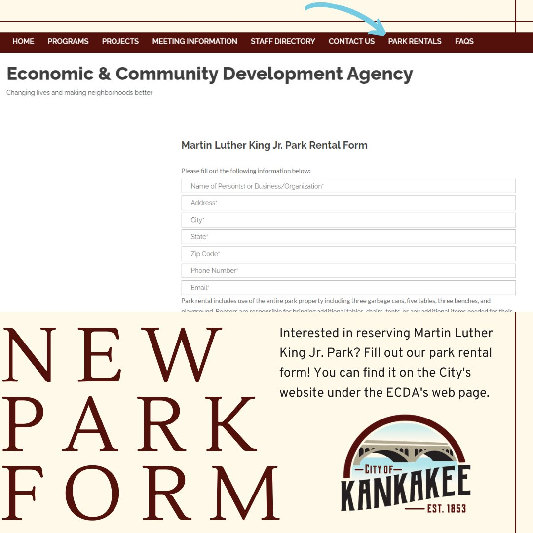 Did you know you can now reserve Martin Luther King Jr. Park through the City's website? Just head to the ECDA's web page and fill out the form online!