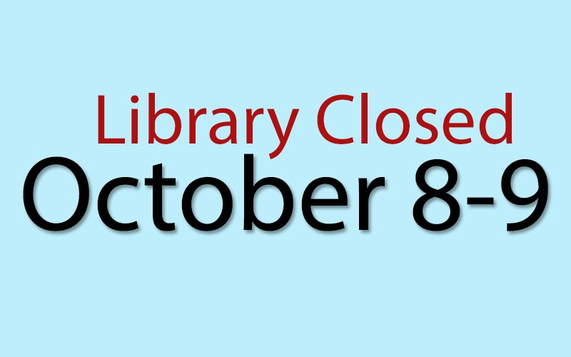 The #ifplib will be closed on October 8-9.
