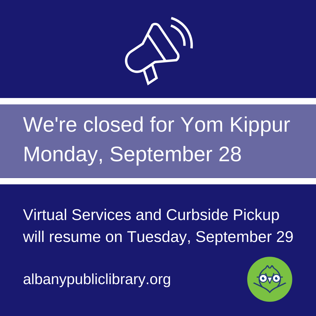 We're closed on Monday, so make sure to schedule your curbside pickup or in-building appointment before the long weekend. Otherwise, see you Tuesday!