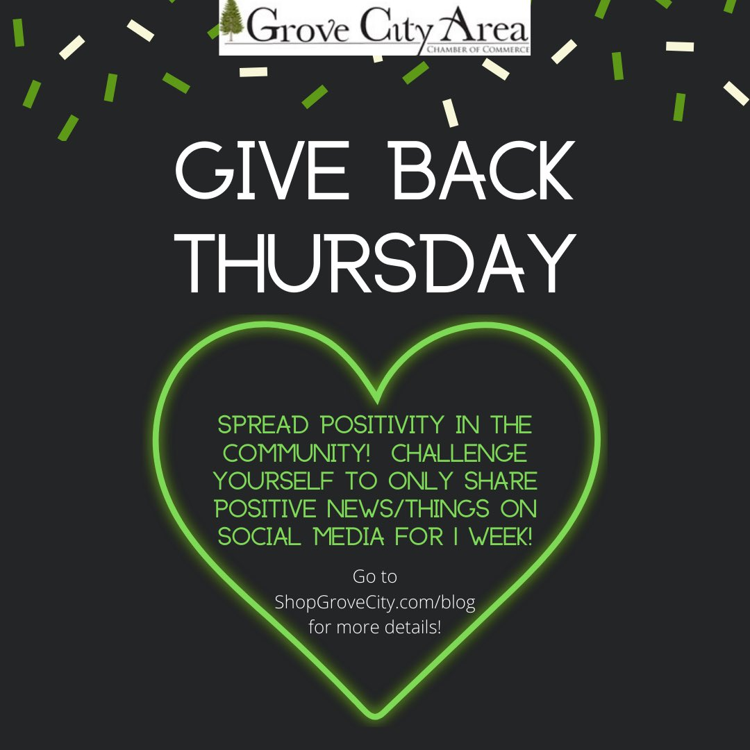 This week's #GiveBackThursday suggestion enables you to help spread positivity in the community! It involves a 1 week challenge for you on social media! Check out this sneak peek and then head to our blog at  to get all the details of this challenge!