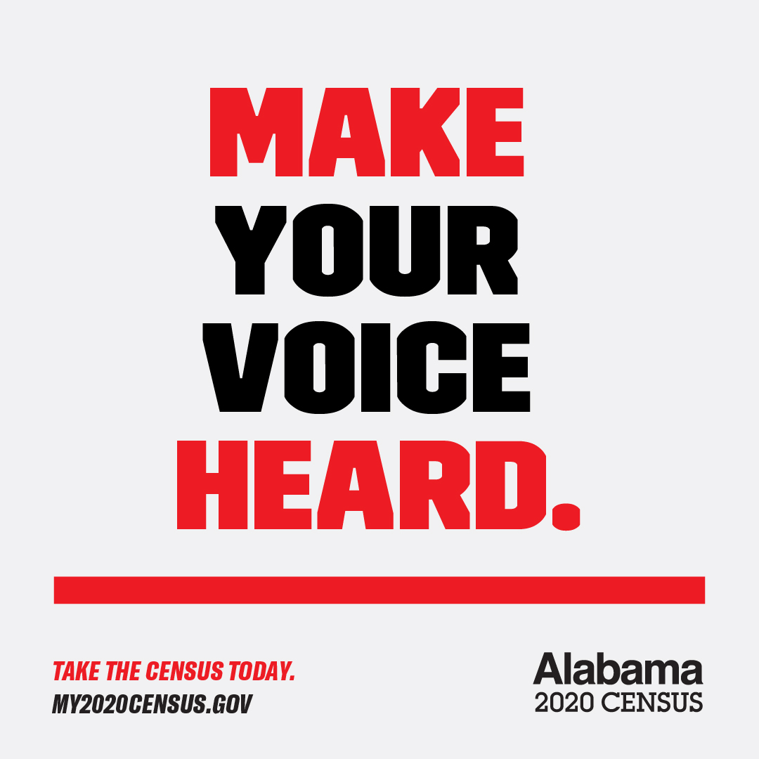 Alabama minority communities are in danger of being underrepresented in the 2020 Census. 👩🏿🧑🏽‍🧕🏽🧔🏿👵🏾 Do your civic duty and complete the census today at ! The deadline is next Wednesday, Sept. 30.