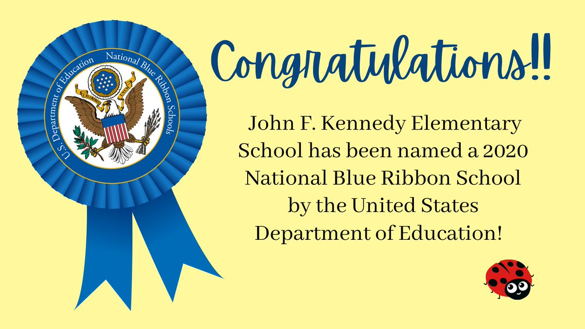 FPS is proud to announce that Kennedy Elementary has been named a 2020 National Blue Ribbon School by the United States Department of Education! Please find the press release attached. Congratulations!!  #proud #blueribbonschool #achievement #education