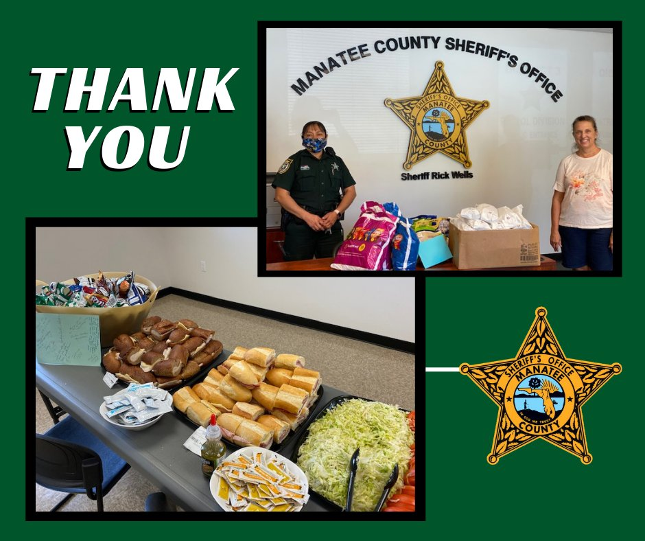 Several residents from Braden Run came together to provide lunch for deputies this week, and we wanted to say THANK YOU!  We are so humbled by the ongoing support from our #community, and the fact that so many of you keep us in your thoughts. #ThankfulThursday #YourSupportMatters