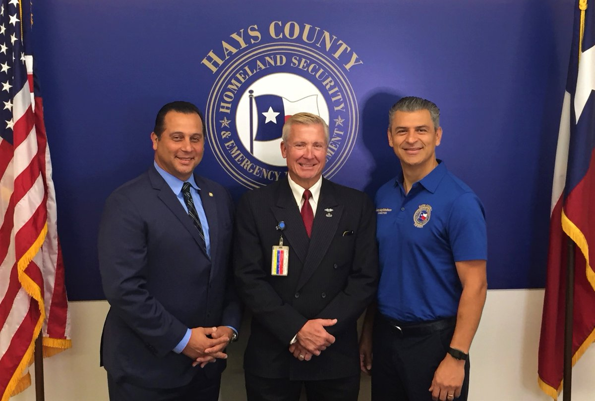 EMC Alex Villalobos, OES Director Mike Jones, Judge Ruben Becerra! #EmergencyTrio
