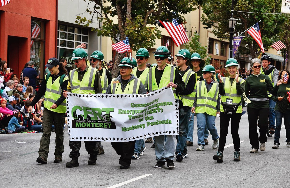 Happy National #CERTWeek to @MontereyCERT! Thank you! When disaster strikes, our CERT members stand ready to help their neighborhoods during an emergency. Interested? Send an e-mail of interest to training@montereycert.org #NationalPreparednessMonth @CERV501c3 #Monterey