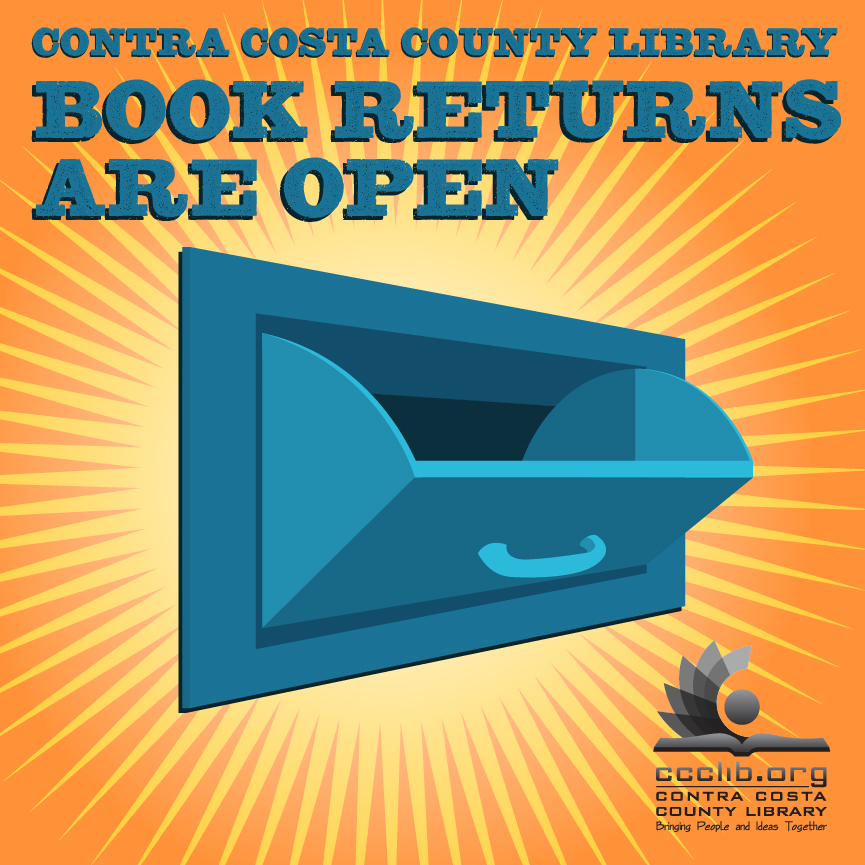 Book drops are open. Please return any library materials to your local community library. All items are quarantined for a minimum of 96 hours before being removed from your account. We do not charge daily overdue fines.