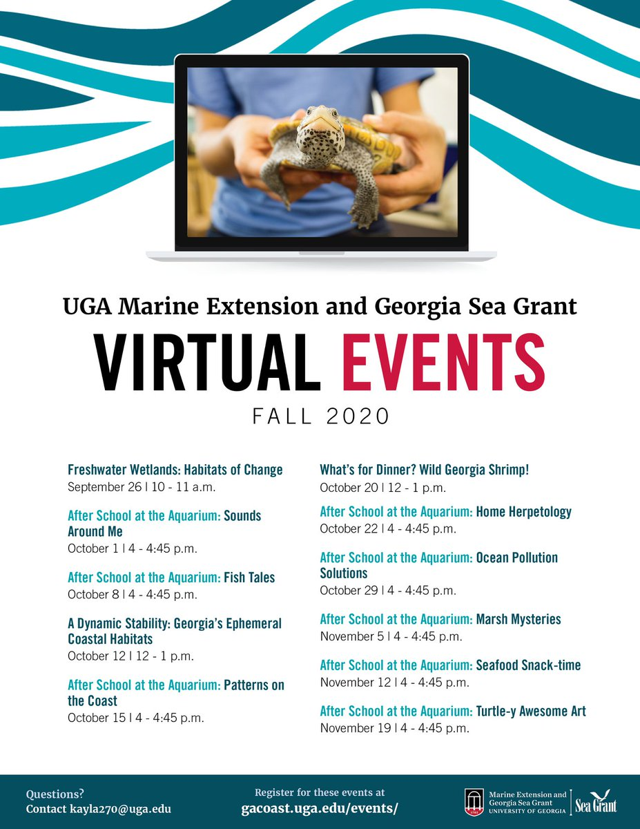 Get outside - virtually - with @GACoast_UGA webinars. Complete details at .
