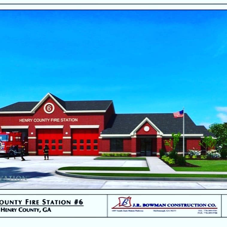 Henry County Commissioners approved the rebuild of Fire Station 6. The current station 6 was built in 1989. It will be located at the intersection of Fairview Rd and Panola Rd on property purchased in Oct '18. New Station 6 will closely resemble rebuilt Station 8 on Jodeco Rd.