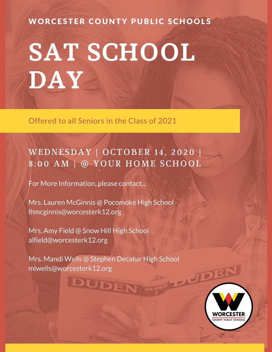 SAT School Day is quickly approaching! #WeAreWorcester