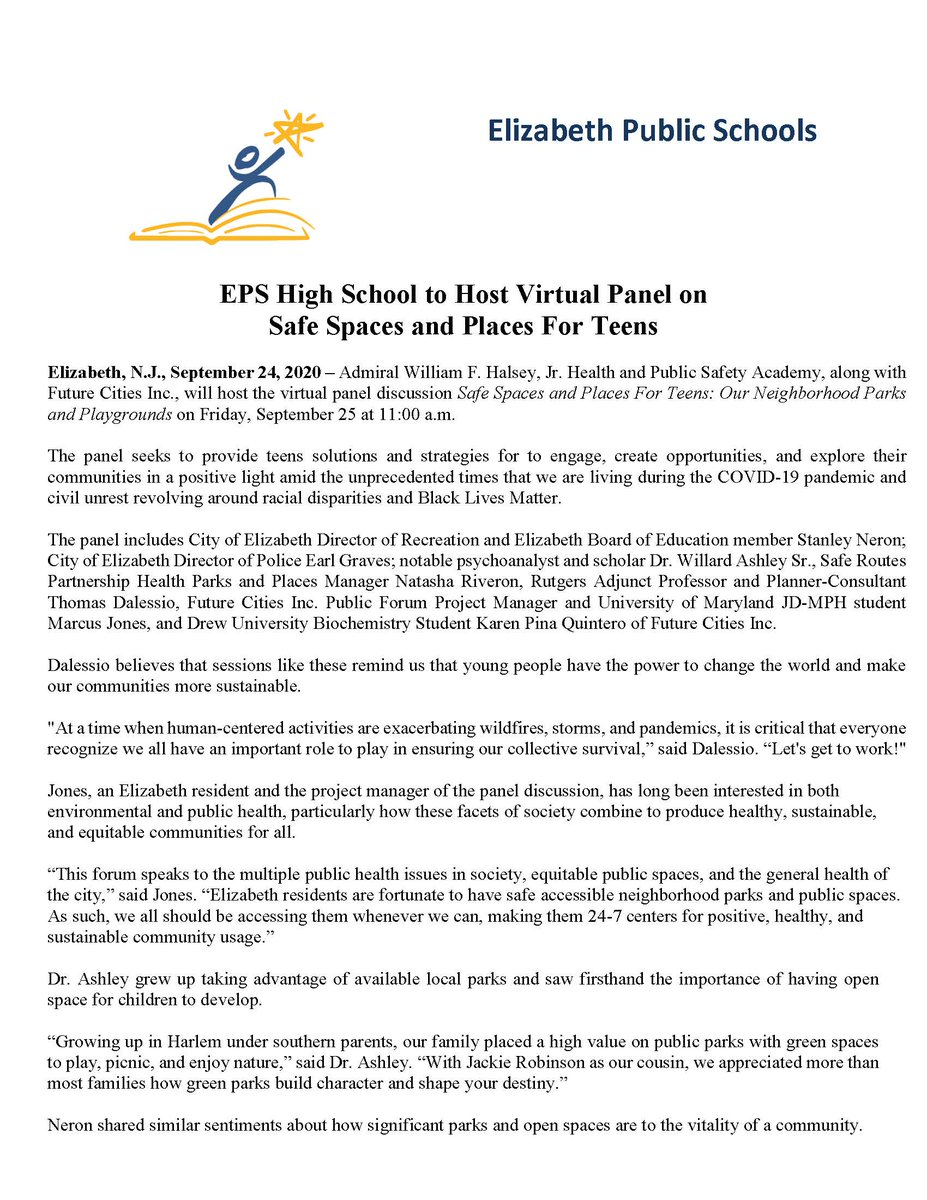 EPS High School to Host Virtual Panel on Safe Spaces and Places For Teens
