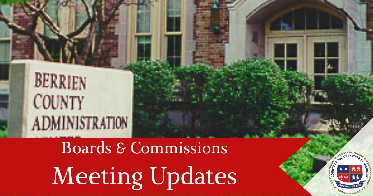 The Berrien County Board of Commissioners will be meeting virtually on October 1st, 2020, at 10:30 via live-stream on the Berrien County YouTube Channel. View the full public notice: