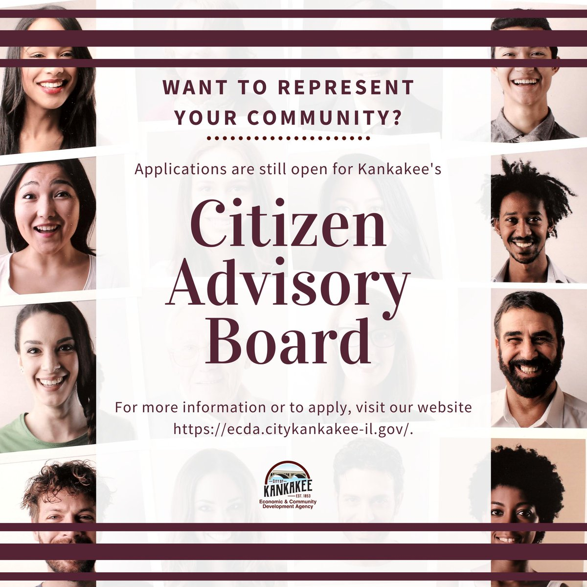 Are you passionate about your community and would like to help make a difference? Applications are still being accepted for the ECDA's Citizens Advisory Board. For more information or how to apply, visit .