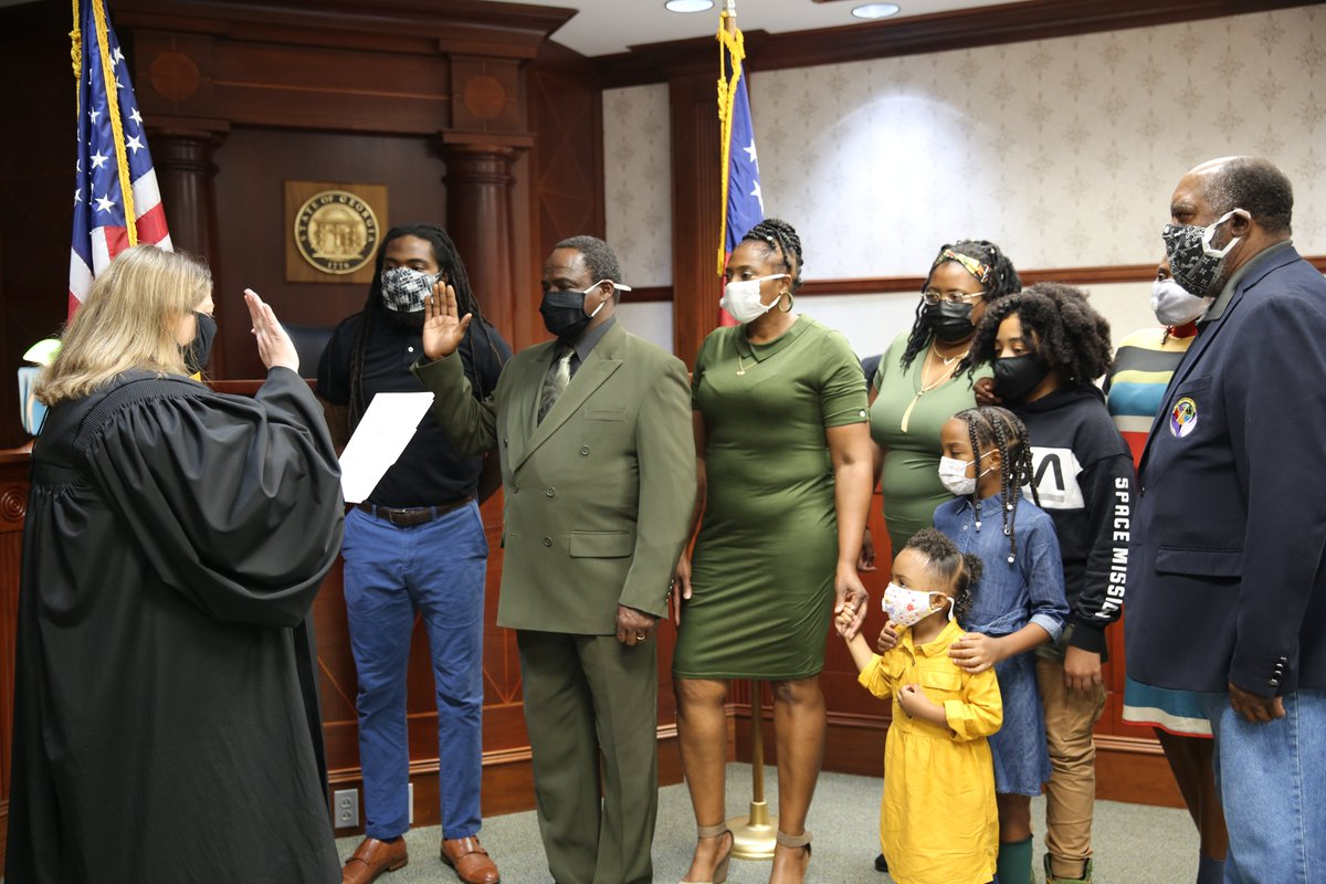 We officially welcome Mr. Anderson Bailey to the NCSS/NCBOE team as he was sworn in today to serve as District 4 Representative!  #NCSSBeTheBest