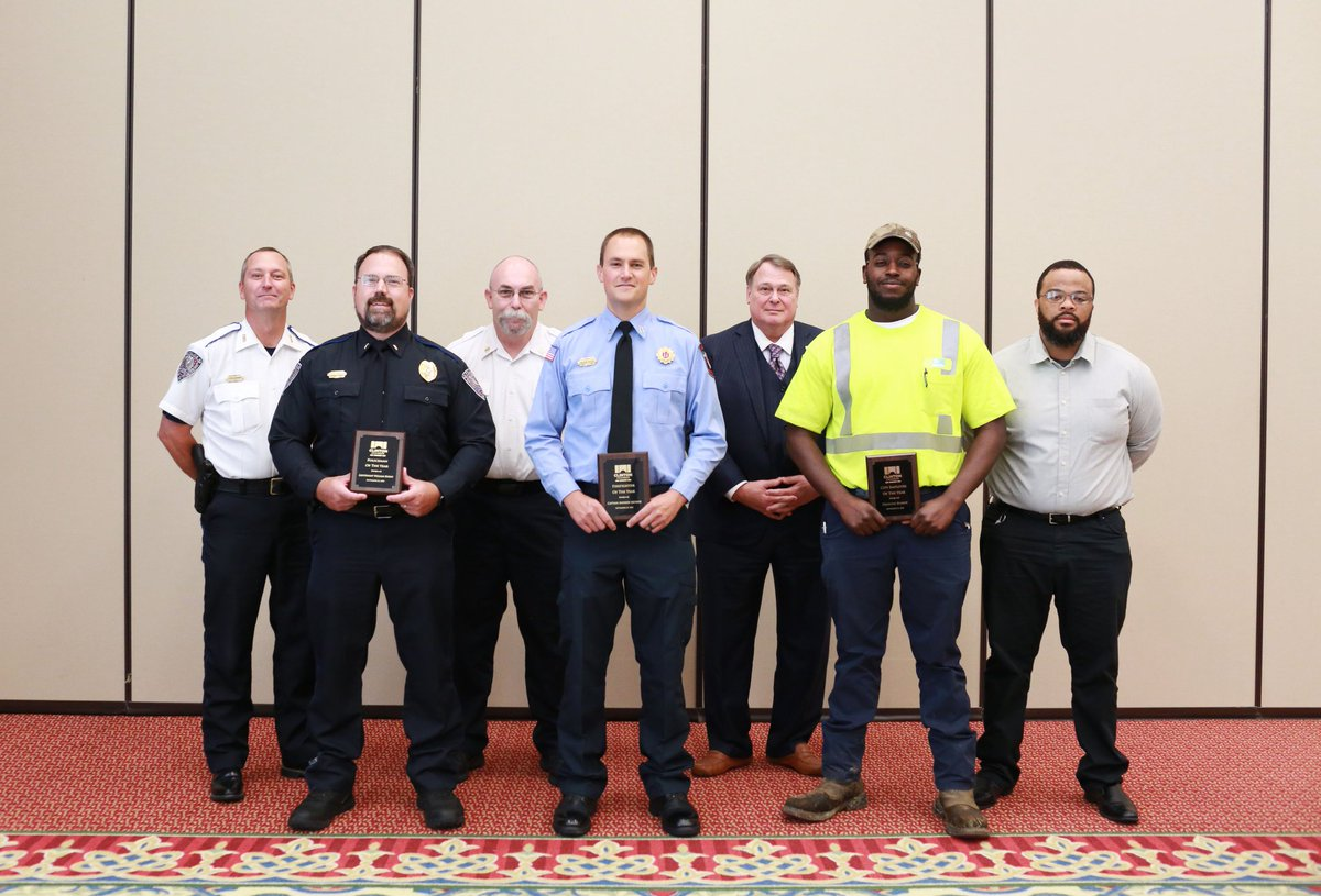 We had a wonderful time at the 2020 Public Service Appreciation Luncheon! Big congrats to our 2020 City Employee of the Year, Deonte Barber, the Policeman of the Year, Lieutenant William Burns, and the Firefighter of the Year, Captain Andrew Arthur!