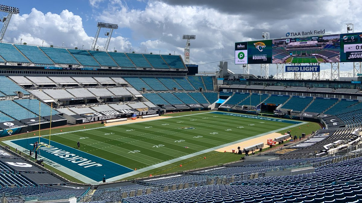 RT @Jaguars: The teal endzones for tonight 😍