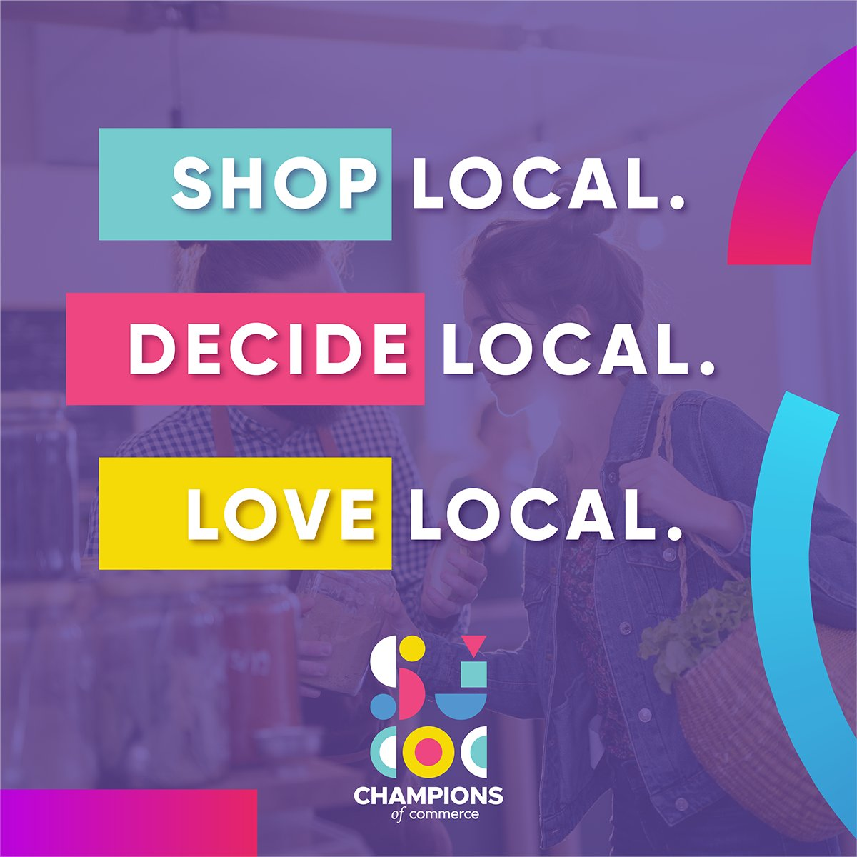 Share if you're a Champion of Commerce and support local businesses. #ShopLocal #DecideLocal #LoveLocal #sjchamber #ChampionsofCommerce