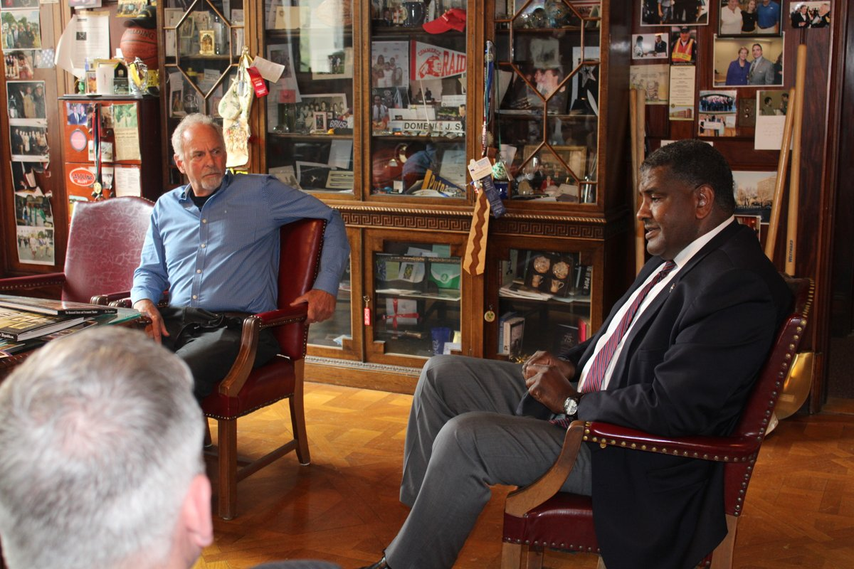 Mayor Sarno Meets with Jeffrey A. Fletcher, Collection Owner of African-American Collection: .