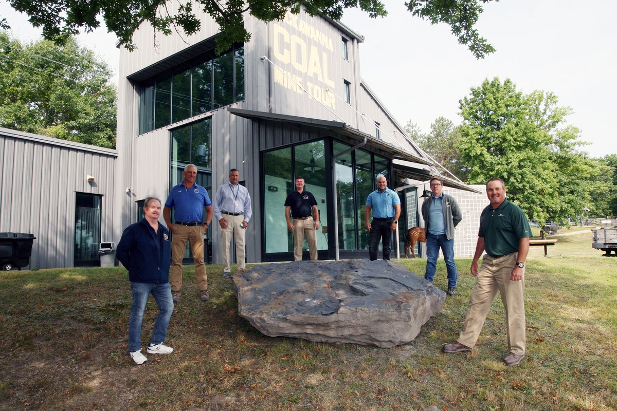 Waste Management's Alliance Landfill has donated two large pieces of the region's distant history to the Lackawanna County Coal Mine Tour in McDade Park. #Fossils #300MillionYearsOld #LlewellynFormation #PaleozoicEra #CarboniferousPeriod