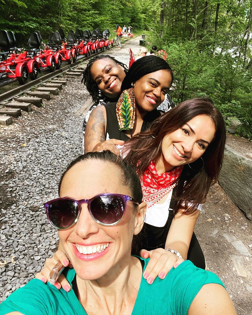 We're thrilled @viverenewyork & friends had such a great time at #RailExplorers while visiting #UlsterCounty. Follow her adventures on Instagram and get a promo code for when you're ready to plan your own rail adventure! We'll see you soon. 🛤️ ❤️  (📸 : @ritual_1110 via IG)