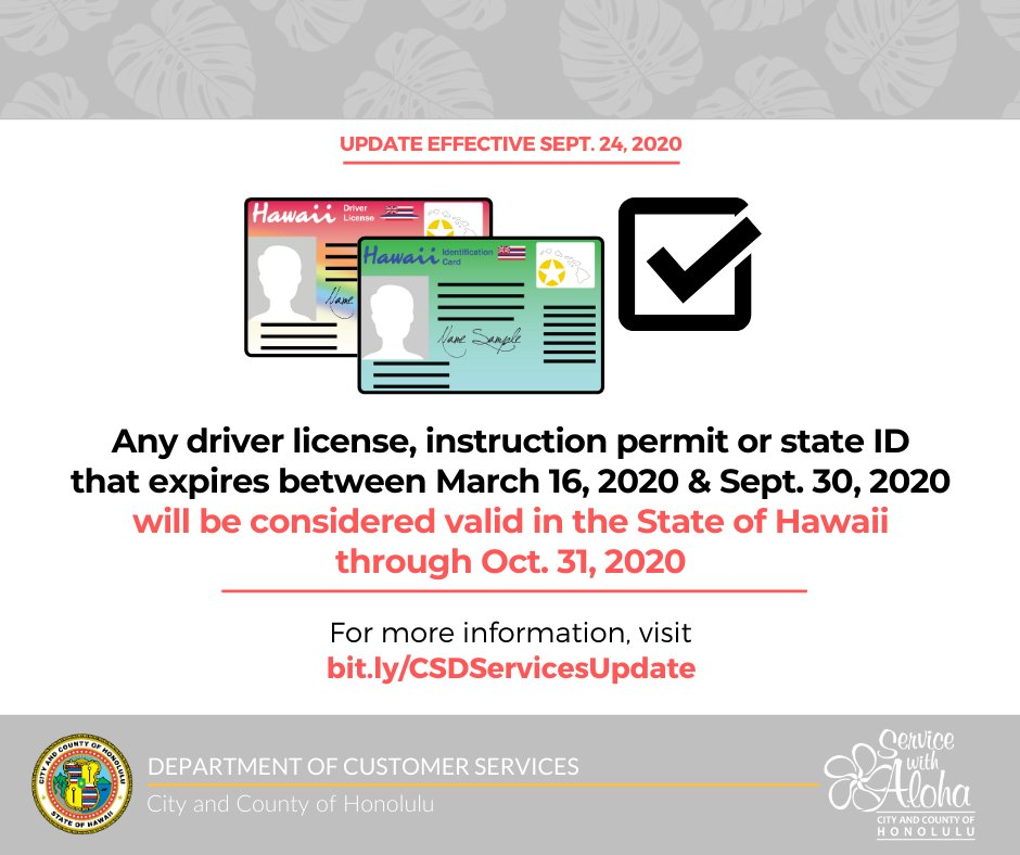 Please note the following update regarding driver licenses, instruction permits & state IDs. For the latest on driver licensing & satellite city hall services, visit .