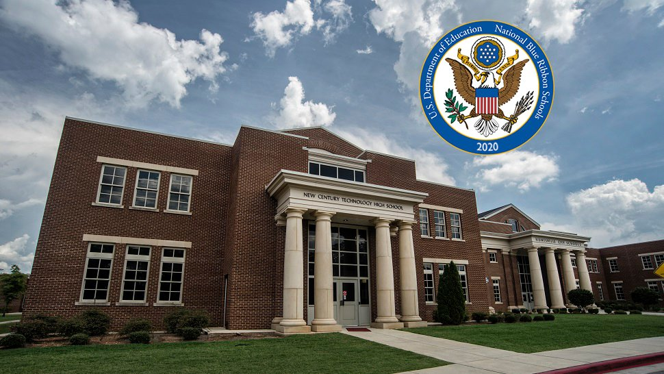 Kudos to New Century Technology High School and @HSVk12 for being named a 2020 National Blue Ribbon School! Full list of winners ➡️
