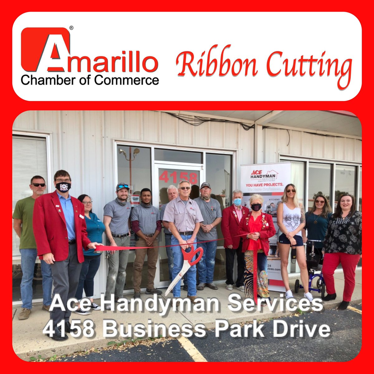 Congrats to Ace Handyman Services on their ribbon cutting today.