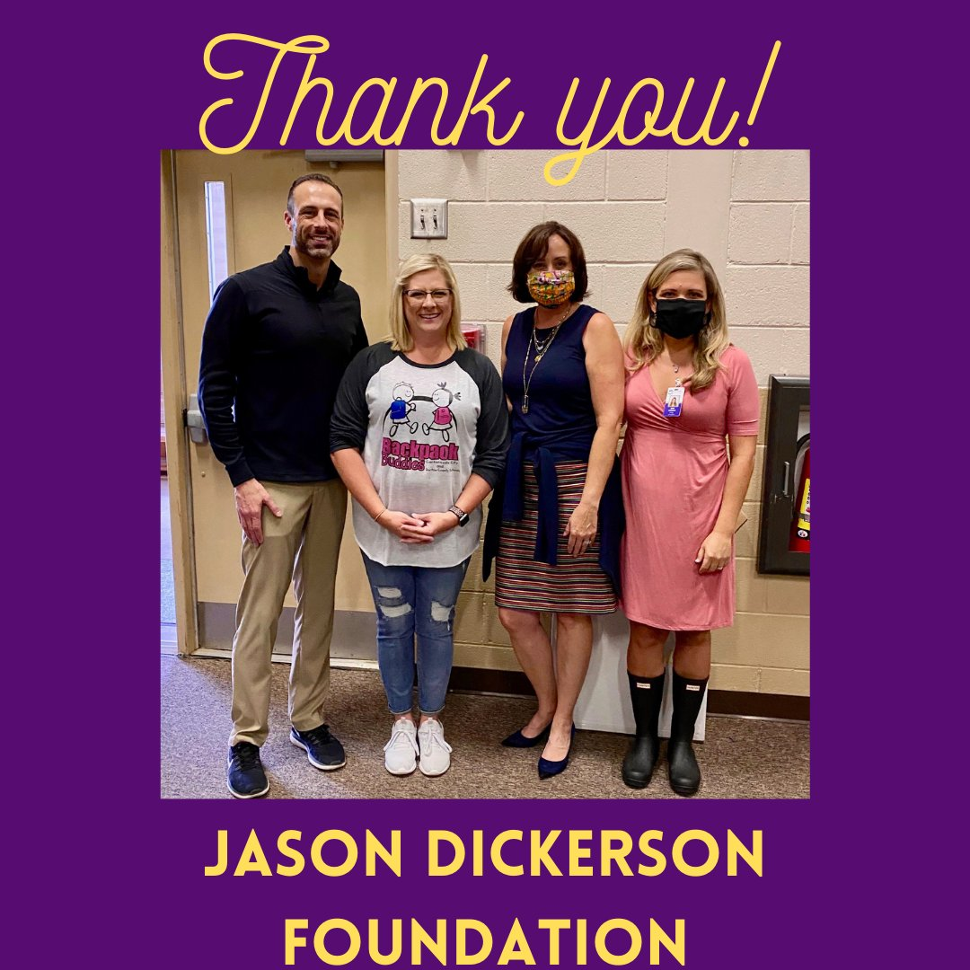 Thank you to Jason Dickerson with Jason Dickerson Foundation and Quest Transport. He and his team packed and delivered 60 Backpack Buddies bags for our students last week. We look forward to this new partnership and appreciate Bruce Thompson for connecting us!