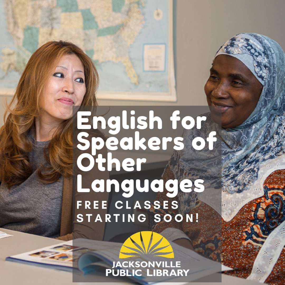 Many people whose first language isn't English - maybe even your parent, grandparent or neighbor - want to learn to speak the language to better interact with the world around them. Help them get started by getting them registered for free classes today!