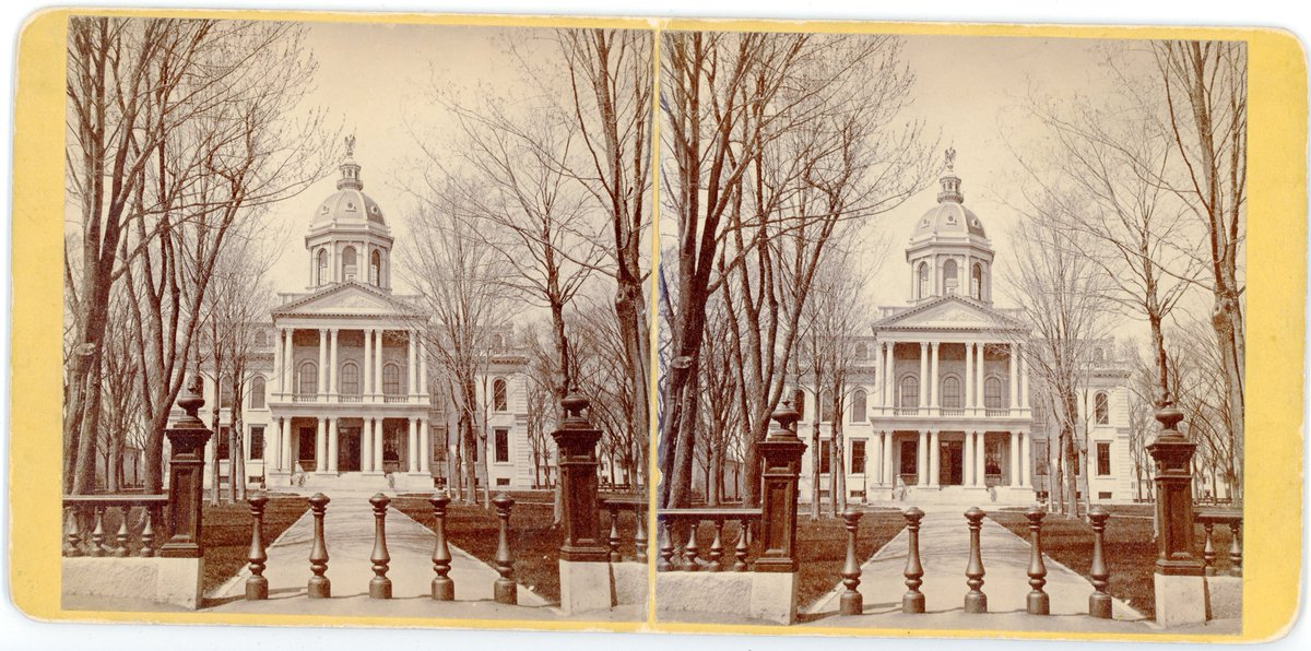 Today in 1816, a few months after the Legislature confirms Concord as the state capital, the cornerstone of the State House is laid. To now, New Hampshire is the only state in the union without a capital #foundintheConcordRoom #throwbackThursday