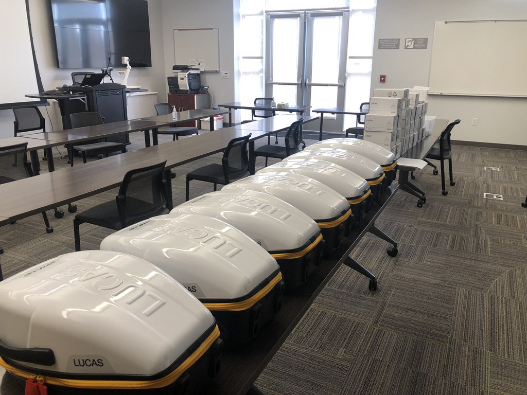 The Visalia Fire Dept. purchased 7 new Lucas 3 Compression Devices that will be used for patients in cardiac arrest. Approximately $137,000 was received as part of the Federal Coronavirus Aid, Relief, & Economic Security (CARES) Act. One unit was purchased back in March of 2020.