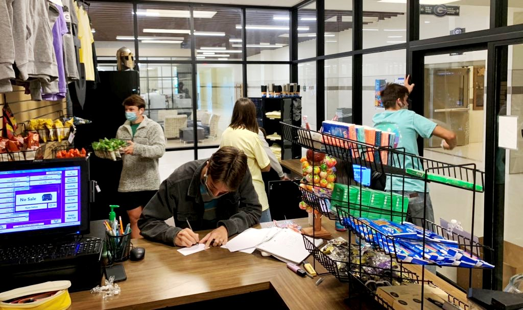 GHS students are busy preparing for the ribbon cutting for The Anchor School Store on Thursday October 9, 2020, at 2:00 P.M. Read more:  #GISDLead #GISDEngage #GISDInnovate