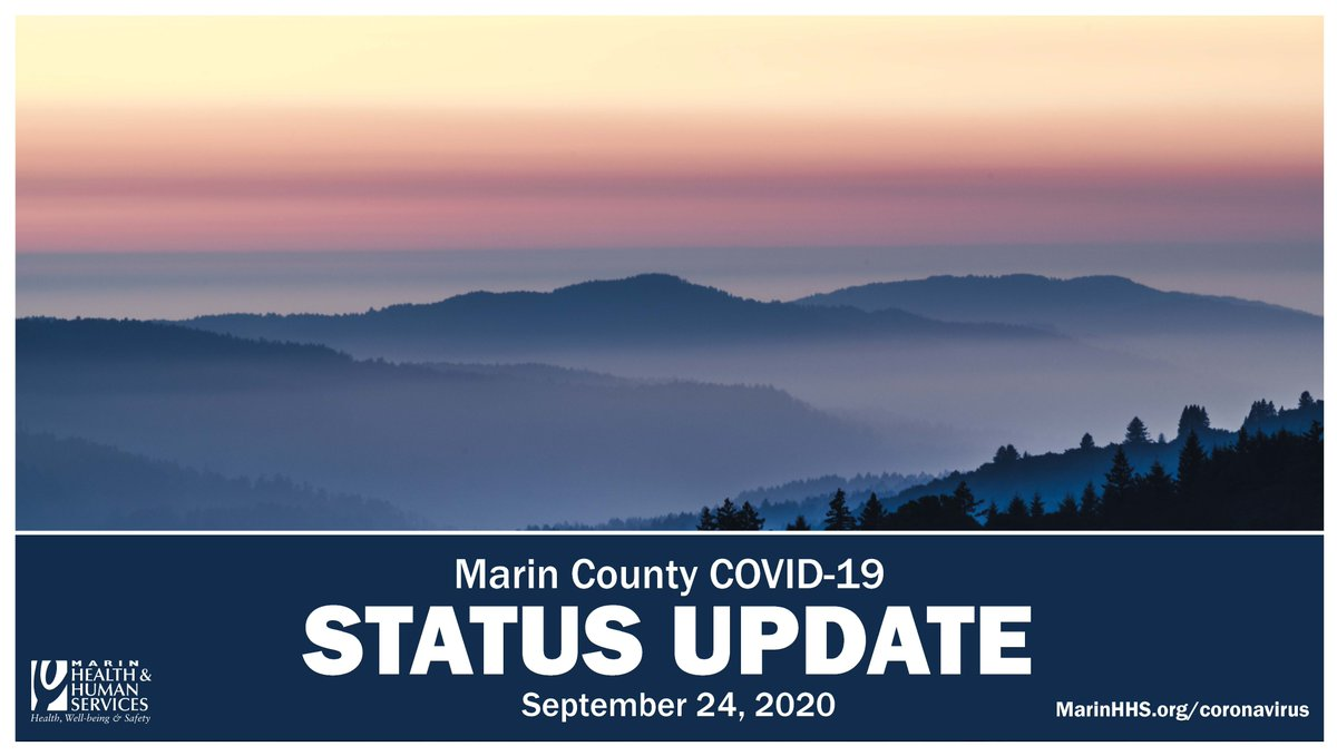 The status update for September 24, 2020 includes:  🤗 tips for coping during the COVID-19 pandemic  📊 updated COVID-19 data 🚒 updates on the Woodward Fire and Air Quality  Full Update: