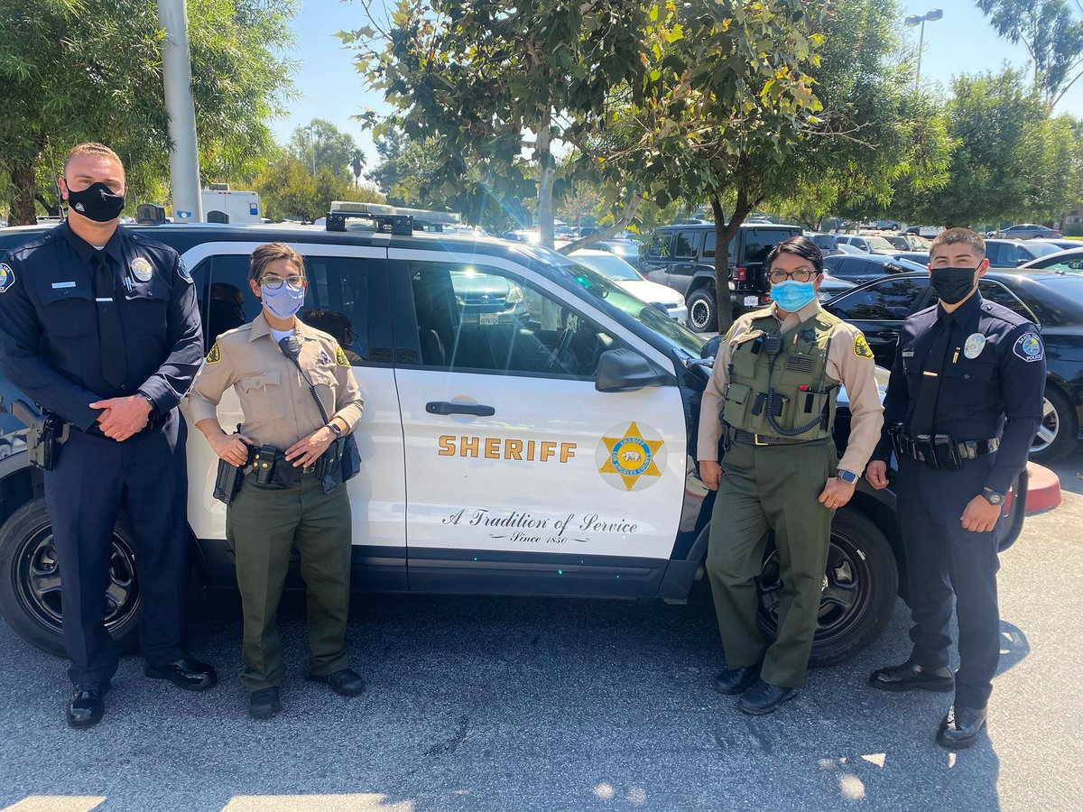 #SantaAnaPD Officers at today's @LASDHQ fundraiser in support of the two deputies that were cowardly ambushed in Compton on September 12, 2020.