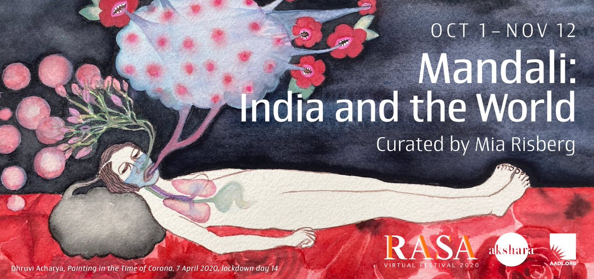 The Mandali exhibit (opens Oct. 1 on ) features ten contemporary artists with an Indian connection. Tune in Thursday (October 1) at 7pm to see the artists discuss practice, art, and finding connection during the covid-19 pandemic: