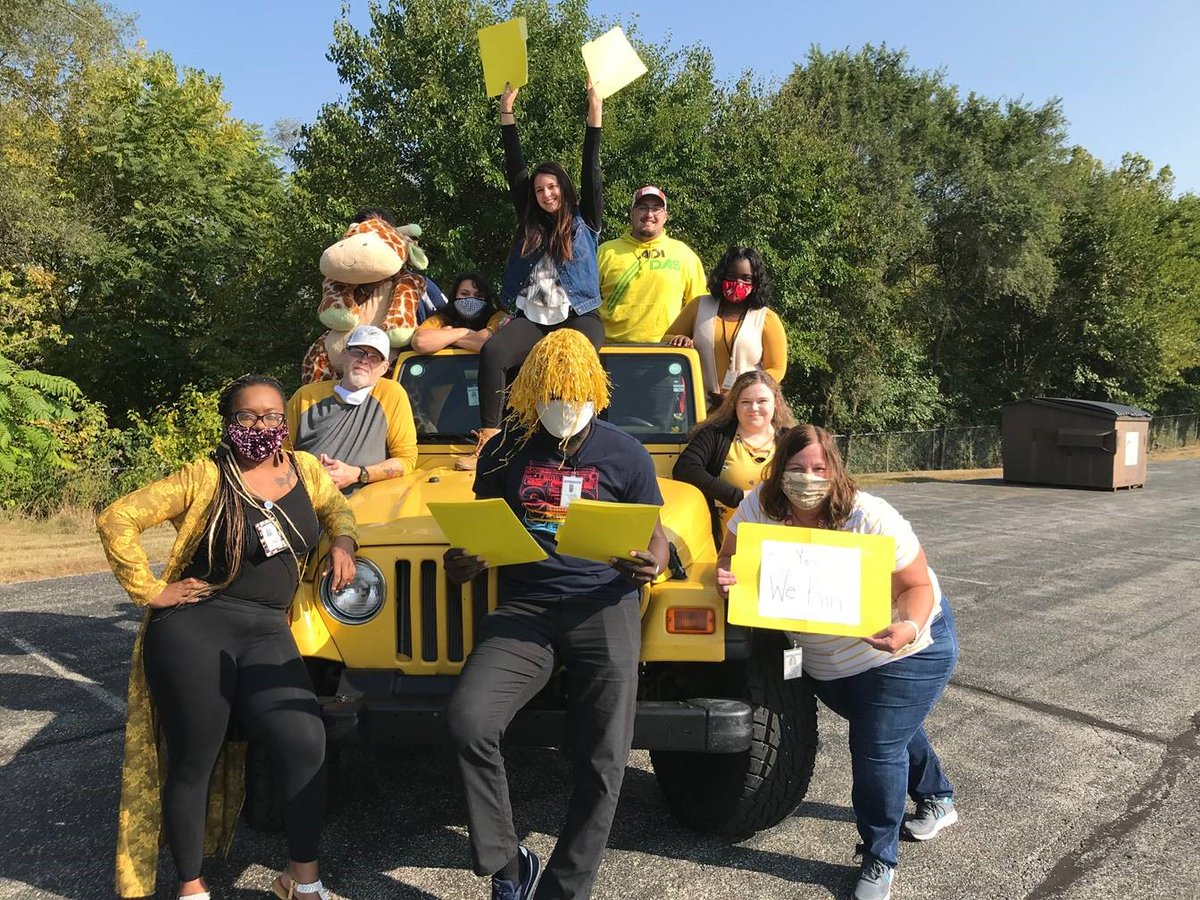 Are you wearing yellow for #KinshipCareMonth? Our  Region 10 field staff and our Region 6 Foster Care & Relative Care staff sure are. Will you join us and show your support for Indiana's amazing kinship caregivers?   Retweet!   Spread the word!   Wear that yellow!