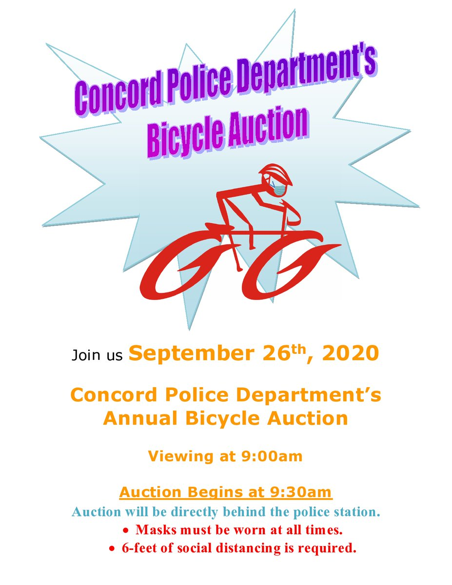 REMINDER: Bicycle Auction tomorrow behind the police station on Green Street. Viewing at 9 a.m., event begins at 9:30 a.m.
